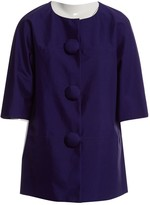 Manoush Purple Silk Jacket for Women