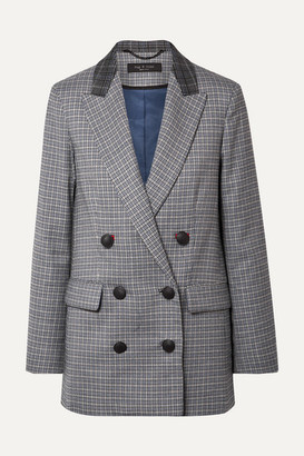 Rag & Bone Ellie Double-breasted Checked Wool-blend Blazer - Gray