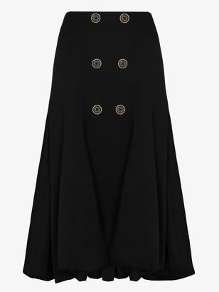 J.W.Anderson A-line wool midi skirt