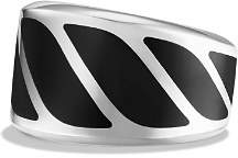 David Yurman Graphic Cable Band Ring with Black Onyx