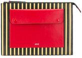 Ami Alexandre Mattiussi striped pocket pouch - men - Leather - One Size