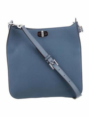 MICHAEL Michael Kors Leather Messenger Bag Blue