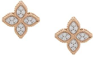 Roberto Coin 18kt gold Princess Flower diamond studs