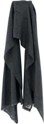 Karu Wool Scarf in Charcoal Grey