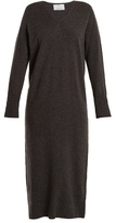 Allude V-neck wool and cashmere-blend knit dress