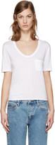 Alexander Wang White Jersey Pocket T-shirt
