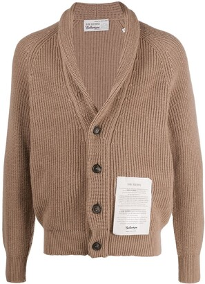 Ballantyne Knitted Cardigan With Logo Patch