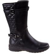 KensieGirl Black Quilted Buckle Boot