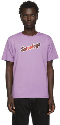 Saturdays NYC Purple Rider T-Shirt