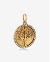 Express Sequin Matte Gold Tree Of Life Charm