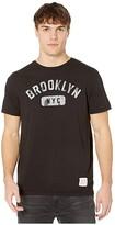 Original Retro Brand The Brooklyn NYC Vintage Cotton Short Sleeve Tee (Black) Men's Clothing