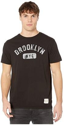 The Original Retro Brand Brooklyn NYC Vintage Cotton Short Sleeve Tee (Black) Men's Clothing