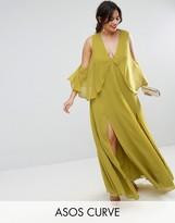 Asos Drape Cold Shoulder Maxi Dress