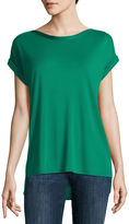 Liz Claiborne Short Sleeve Shine Trim T-Shirt