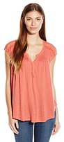 Lucky Brand Women's Faded Rose Milan Lace Top