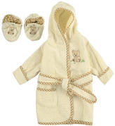 SpaSilk Terry Robe and Bootie Set 0-9 Months - ivory