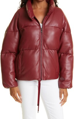 Sharon Faux Leather Puffer Jacket