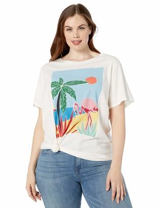 Lucky Brand Women's Plus Size Tropical Crew TEE