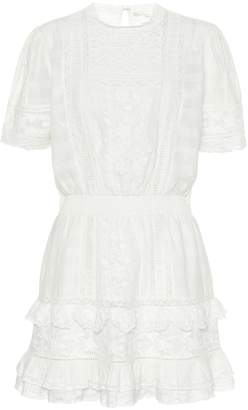 LoveShackFancy Leighton cotton minidress
