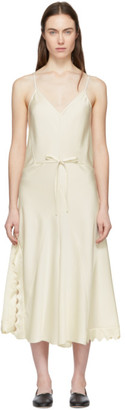 Chloé Beige Silk Satin Crepe Dress
