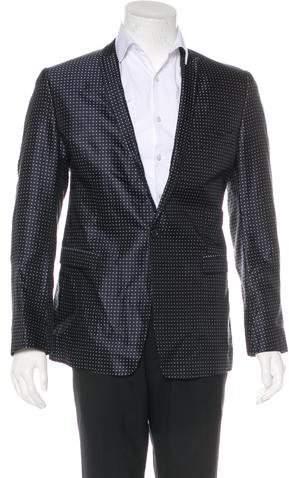 Dolce & Gabbana Polka Dot Silk Blazer