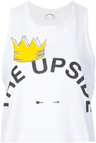 The Upside logo print cropped tank top
