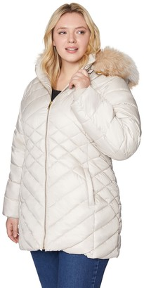 Plus Size Halitech Faux-Fur Hooded Puffer Jacket