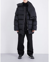 Rick Owens Oversized-collar Quilted Shell Coat