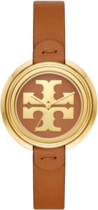 Tory Burch The Miller Leather Strap Watch, 36mm