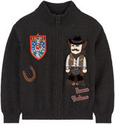 Dolce & Gabbana New wool zip cardigan with patches Western