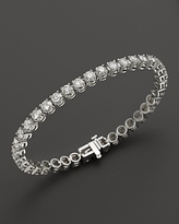Bloomingdale's Certified Diamond Tennis Bracelet in 14K White Gold, 10.0 ct. t.w. - 100% Exclusive