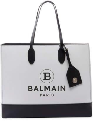 Balmain Two-Tone Shopping Tote Bag