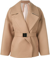 No.21 belted coat - women - Polyamide/Polyester/Acetate/Wool - 38