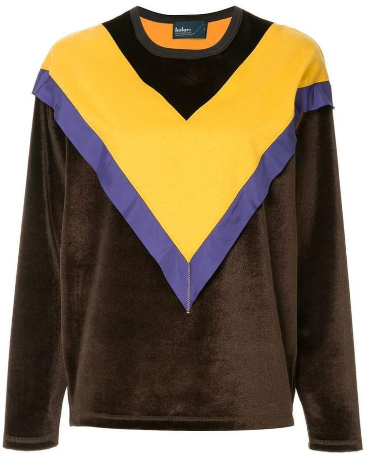 Kolor colour block sweatshirt
