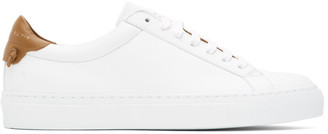 Givenchy White and Brown Urban Street Sneakers