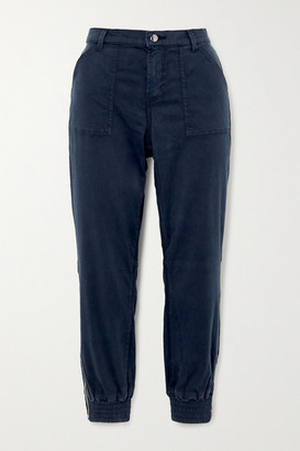 J Brand Arkin Cotton-blend Sateen Track Pants - Navy
