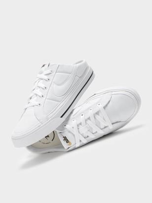 Nike Womens Court Legacy Mule in White