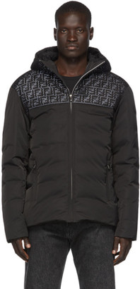 Fendi Black Down Mesh Forever Jacket
