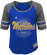 adidas Girls 7-16 Golden State Warriors High-Low Raglan Tee