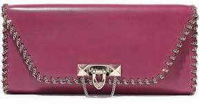 Valentino Garavani Demilune Chain-embellished Leather Clutch