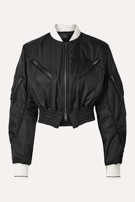 Haider Ackermann Cropped Ruched Shell Bomber Jacket - Black
