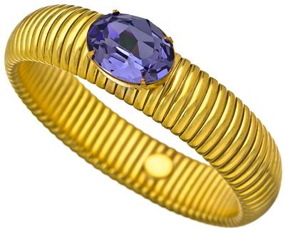 Liz Palacios Purple Crystal Fantasy Bracelet