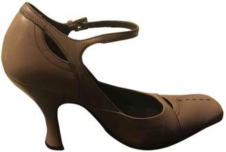 Prada Mary Jane Pink Leather Heels