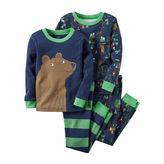 Carter's 4-pc. Cotton Football Pajama Set - Baby Boys newborn-24m