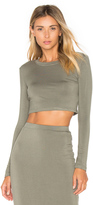 Blq Basiq Long Sleeve Crop Top