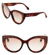 Roberto Cavalli 54MM Crystal-Embellished Cat Eye Sunglasses