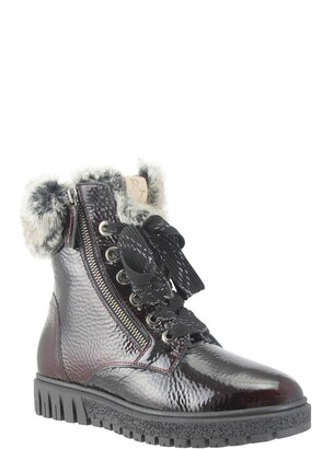 Ron White Isla Waterproof Crinkled Boot with Faux Fur Lining