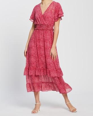 Dorothy Perkins Leopard Ruffle Chiffon Midaxi Dress