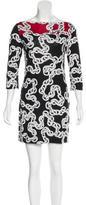 Diane von Furstenberg Chain-Link Print Mini Dress