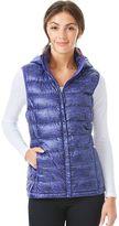 Women's Heat Keep Hooded Printed Down Puffer Vest